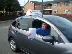 Callum Evans passes driving test with AutoDrive and Bill