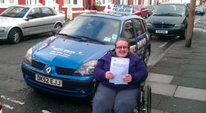 Becky passes with Auto Drive driving school in Wallasey